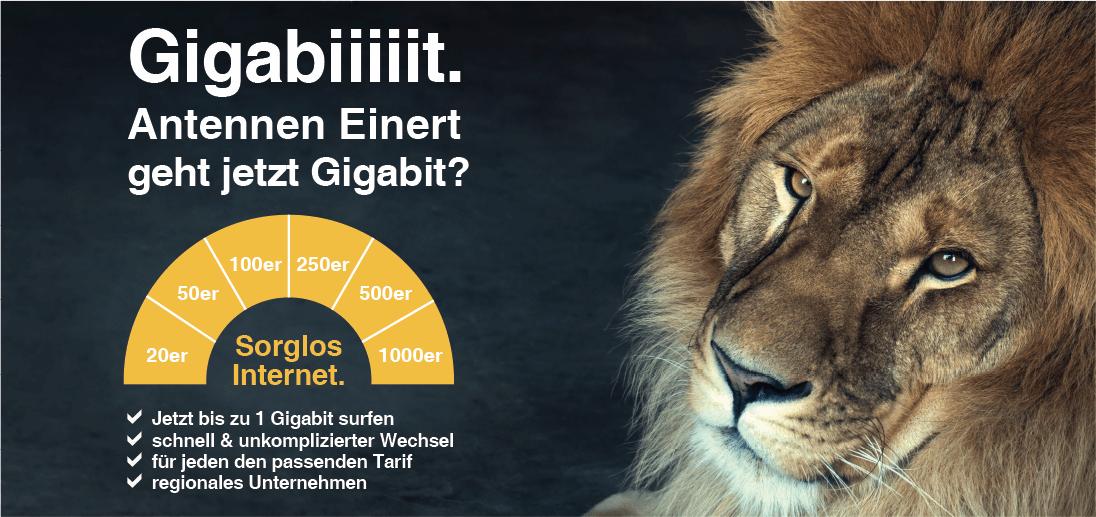 Neue Tarife bis zu 1 Gigabit!